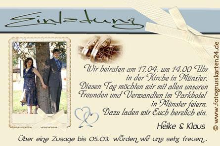 Einladungskarten zur Trauung Hochzeitseinladungen