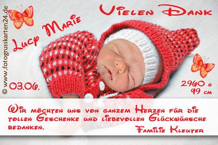 Dankeskarten zur Geburt Geburtsanzeigen