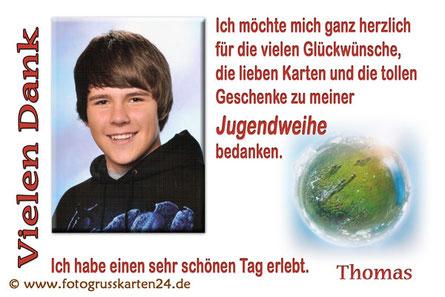 Danksagung zur Jugendweihe Dankeskarten zur Jugendfeier