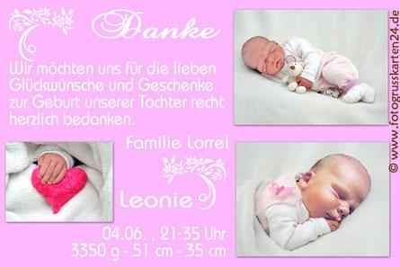 Geburtskarten Babykarten mit Foto
