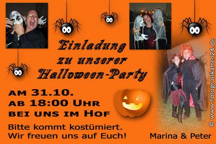 Einladungen zur Halloweenparty Einladungskarten