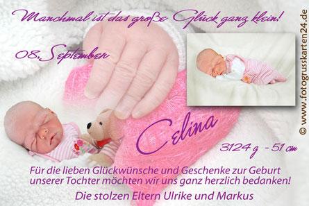 Babykarten Karten zur Geburt mit Foto