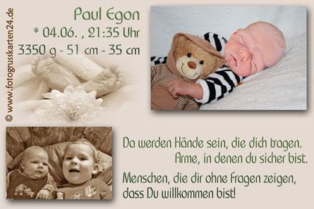 Jungen Geburtsanzeige Babykarten