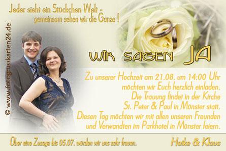 Einladungen zur Hochzeit Einladungskarten