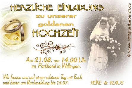 50 Jahre verheiratet Einladungen zur goldenen Hochzeit