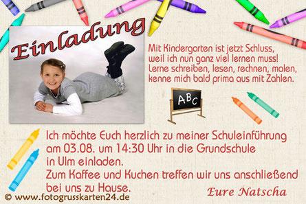 Einladungen Einschulung Schulanfang