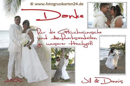 Traumhochzeit? Nun fehlen noch die Danksagungskarten zur Hochzeit!