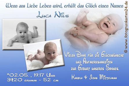 Dankeskarten zur Geburt Babykarten Danksagungen