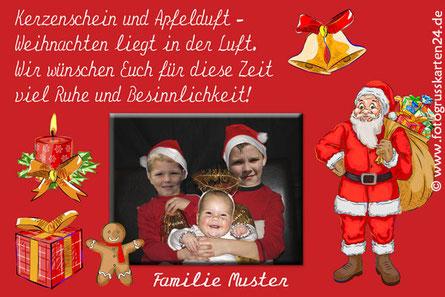 Grusskarte Weihnachten