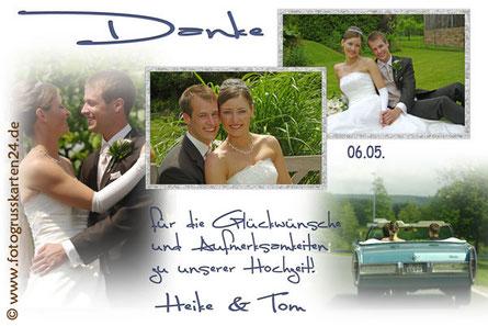 Dankeskarte Hochzeit Danksagungskarten