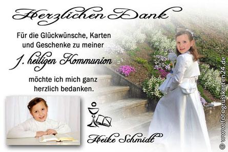 Erstkommunion Danksagungen Kommunion Dankeskarten