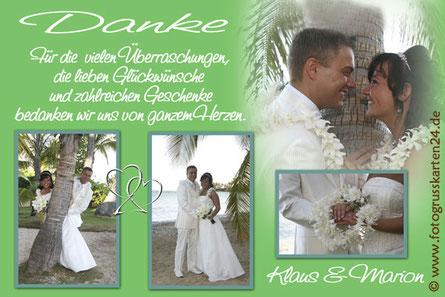 Dankeskarten zur Hochzeit Danksagungen