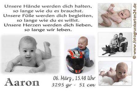 Babykarten Geburtsanzeigen