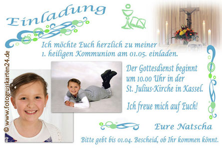 Kommunion Einladungen