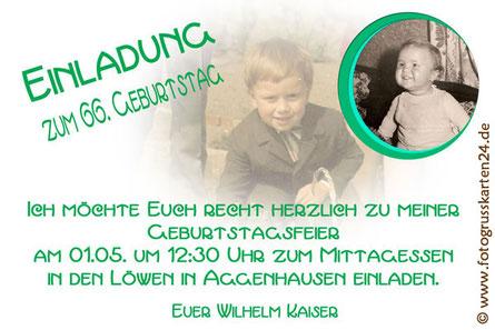 Einladungen Geburtstag mit Foto Einladungskarten