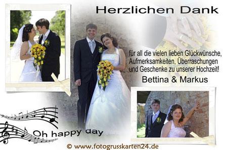 oh happy day, Danksagungskarten zur Hochzeit