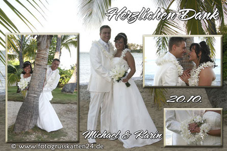 Herzlichen Dank zur Hochzeit Danksagungskarten