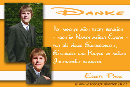 Danksagungskarten Jugendweihe Dankeskarten Jugendfeier