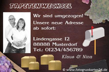 Änderung der Adresse durch Umzug - Fotokarte mit euer Adresse
