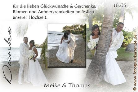 Dankeskarten Hochzeit oh happy day