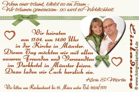 Einladungskarten Hochzeit Einladung Trauung