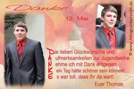 Danksagungskarte Jugendweihe Dankeskarte Jugendfeier