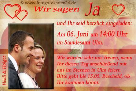 Einladungen Trauung Einladungskarten zur Hochzeit