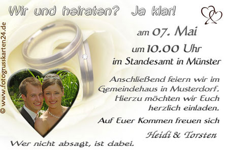 Einladungskarte Trauung