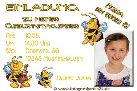 Einladungskarten Kindergeburtstag