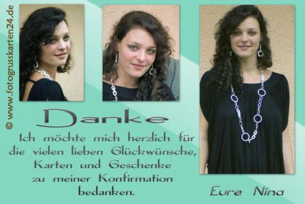 Konfirmation Danksagungskarten Dankeskarten mit Foto