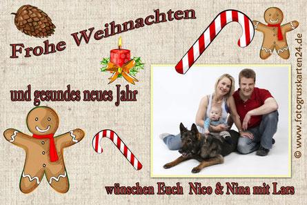 Weihnachtskarten mit Foto und persönlichem Text