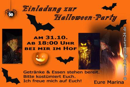 Einladungen Einladungskarten zur Halloween Party