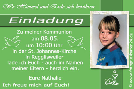 Einladungskarten Erstkommunion