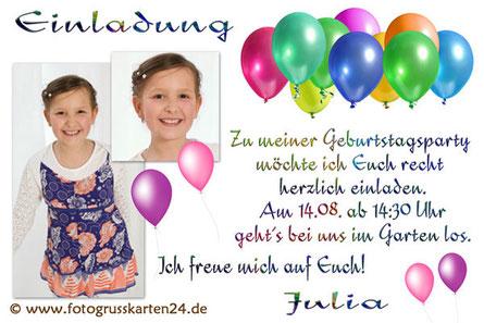 Einladungen Kindergeburtstag Einladungskarten