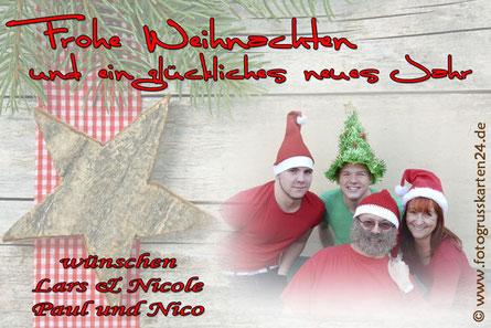 Weihnachten Familengrusskarte