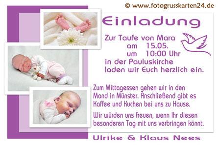 Einladungskarten Taufe Einladungen Taufe Einladung Taufe 10 x Foto ...