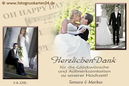 Dankeskarten zur Hochzeit Danksagungen zur Trauung