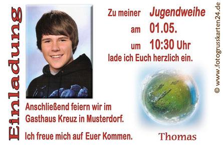 Einladungskarten Jugendweihe
