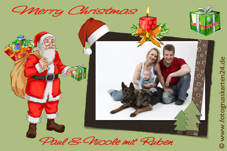 Weihnachtskarte Nikolaus Weihnachtsmann