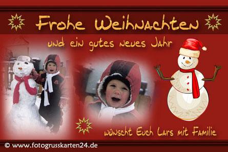 Weihnachten Karte mit Foto