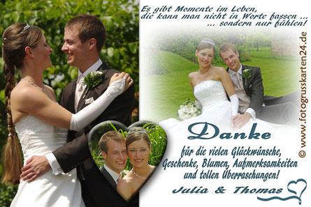 Hochzeitdankeskarten Danksagungen zur Hochzeit