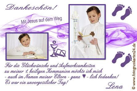 Erstkommunion Dankeskarten Kommunion Danksagungen