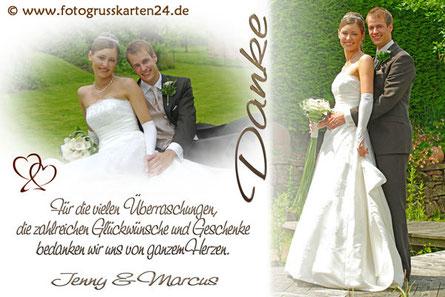 Dankeskarte Hochzeit mit Foto
