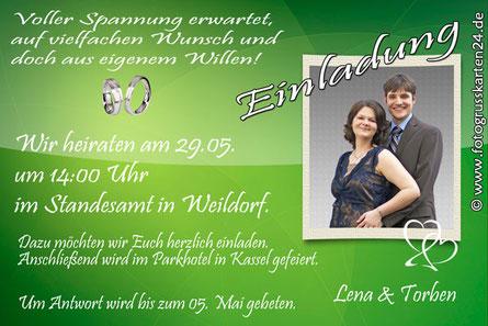 Einladungskarten Hochzeit Einladungen Trauung