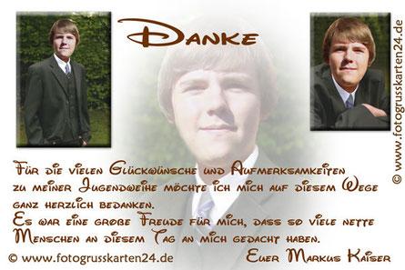 Jugendweihe Danksagungskarten Dankeskarten Jugendfeier