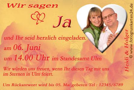 Hochzeit Einladungskarten Trauung Einladungen