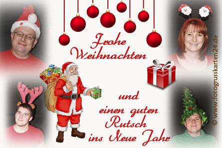 lustige Weihnachtskarten