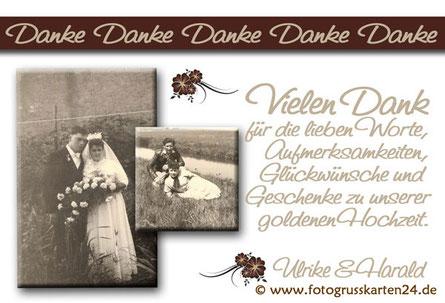 Vielen Dank zur goldenen Hochzeit Dankeskarten