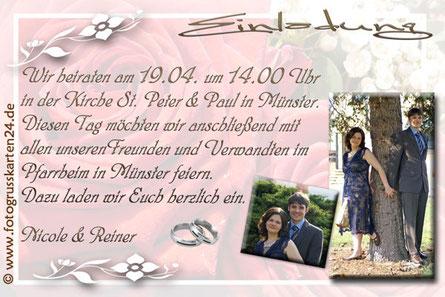 Einladungskarte Hochzeit Einladungen Trauung