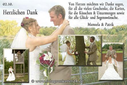 Dankeskarten Hochzeit Danksagungskarten zur Trauung